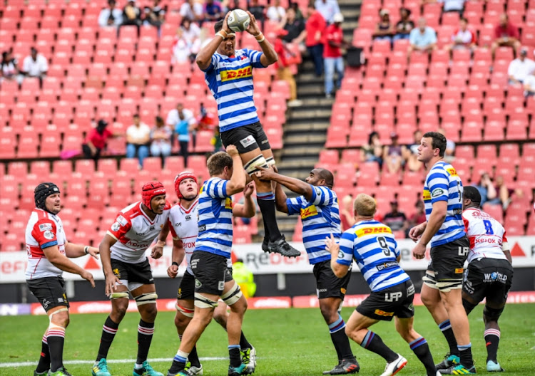 Salmaan Moerat of Western Province wins possession during the Currie Cup match at Emirates Airline Park on September 15, 2018 in Johannesburg, South Africa. (Photo by