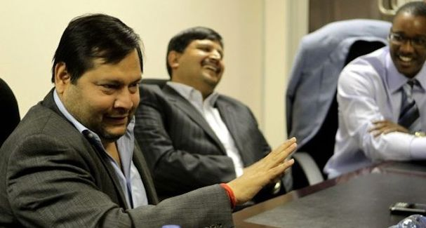 Ajay and Atul Gupta with Duduzane Zuma. Picture: SUPPLIED.