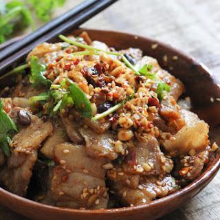 Pork Belly with Spicy Garlic Sauce.