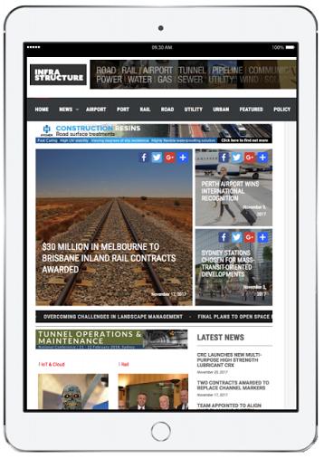 Infrastructure magazine on iPad