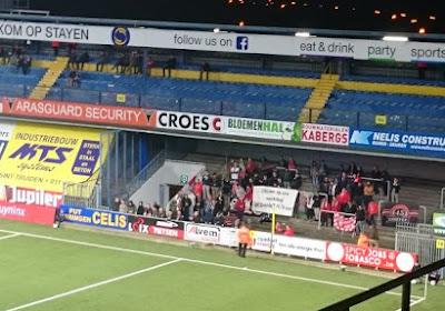 Zulte Waregem én thuisploeg STVV hekelen met érg duidelijke spandoeken het midweekvoetbal
