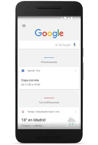 La aplicación de Google