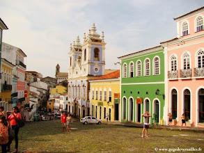 Photo: BRESIL-Le Pelourinho à Salvador de Bahia, classé au Patrimoine mondial de l'Unesco.