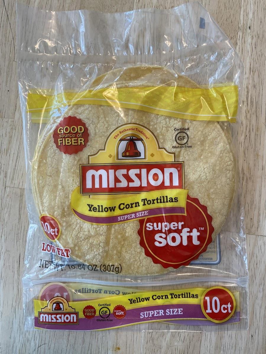 Super Soft, Yellow Corn Tortillas