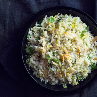 Cilantro-Lime Cauliflower Rice (with Coconut)