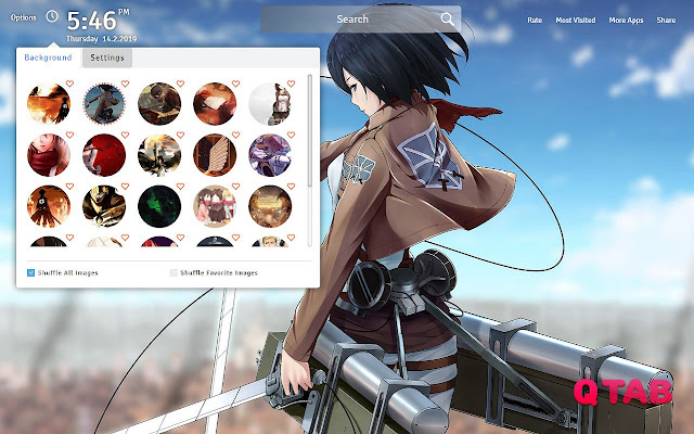 Attack On Titan Wallpapers Theme New Tab
