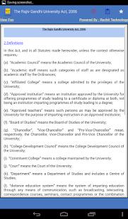 India - The Rajiv Gandhi University Act, 2006 - náhled