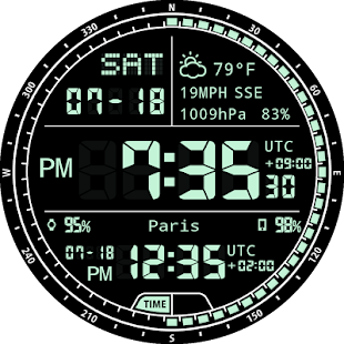 M01 WatchFace for Android Wear- screenshot thumbnail