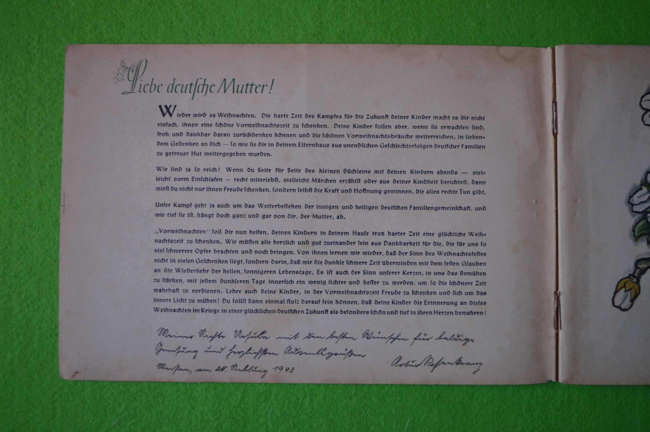 Adventskalender 1942 / 1943