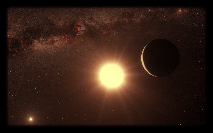 This artist's impression shows the planet orbiting the star Alpha Centauri B, a member of the triple star system that is the closest to Earth in this image released on October 17, 2012. Picture: REUTERS
