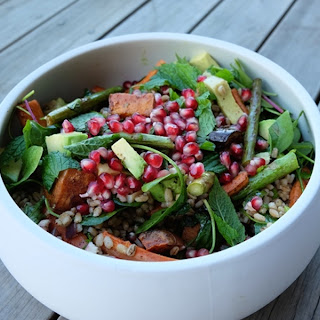 Spring Vegetable Pearl Barley Salad