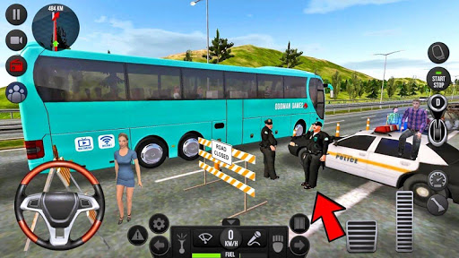 Modern Offroad Uphill Bus Simulator apkpoly screenshots 6