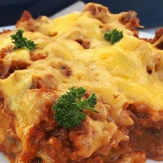 Easy Beef Lasagna.