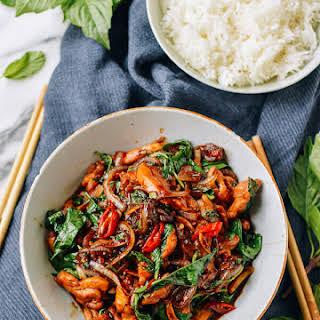 Thai Chicken Stir-fry with Basil & Mint.