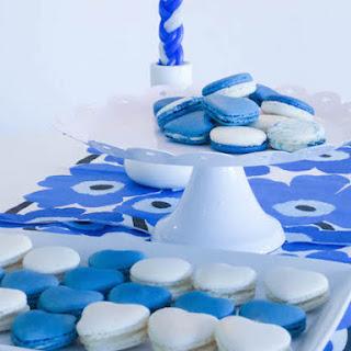 Vanilla & Blueberry Macarons.