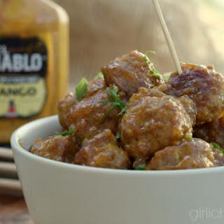 Sticky Mango Mustard Glazed Duck Meatballs