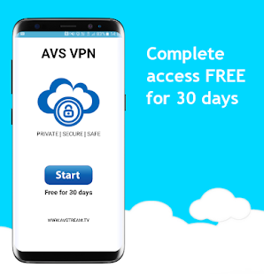 AVS VPN Powerful Global servers - náhled