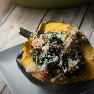 Mediterranean Quinoa Stuffed Acorn Squash