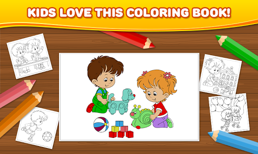 Coloring Pages: Kids Babies