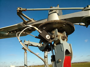 Photo: Sensors attached to an ELA gyro rotor head