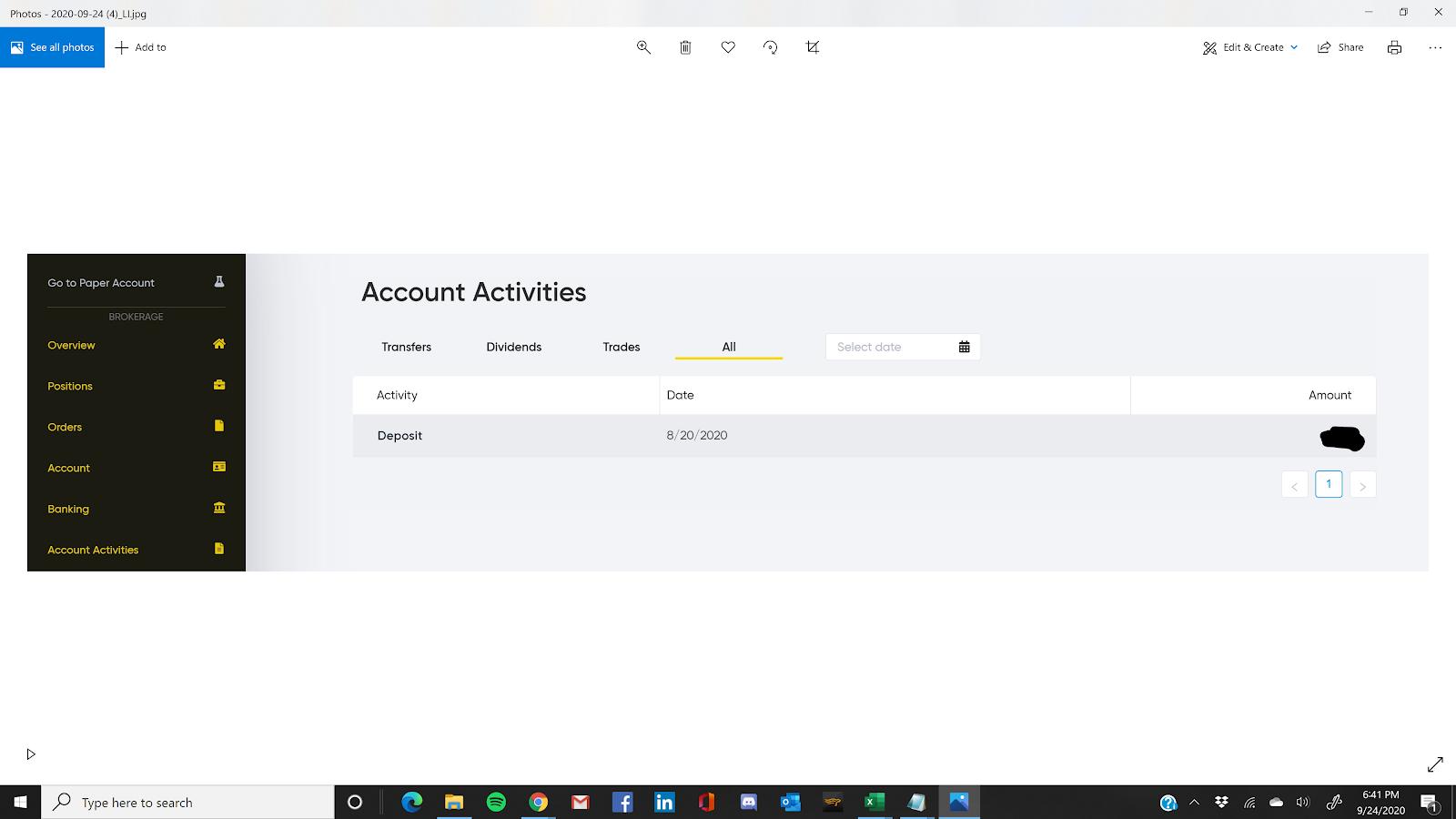 Account Activities
