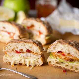 Turkey, Apple & Cheese Panini with Hot Pepper Jelly Recipe