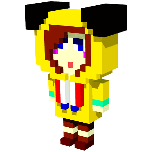 Anime 3D Color by Number:Voxel Coloring, Pixel Art Icon