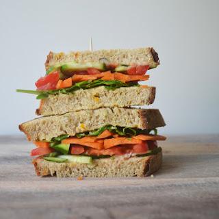 Vegan Salad Club Sandwich.