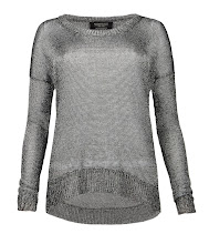 Photo: Gloss Tailcoat>>  UK>http://bit.ly/Qn2IIb US>http://bit.ly/O5vI7e  The Gloss Tailcoat Jumper in gunmetal is a metallic open knit jumper. Featuring a dropped armhole and scoop hem detail, this style is also available in a jet black colour way.