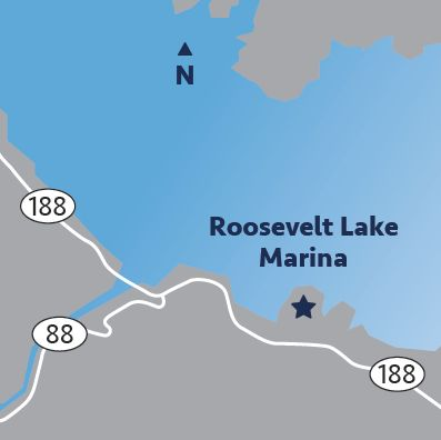 Roosevelt Lake Marina Map