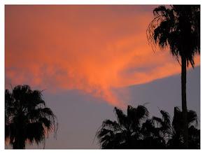 """Photo: """"Geist aus der Flasche"""" Sonnenuntergang Sunset  Playa del Ingles, im Süden der Insel Gran Canaria Datum und Uhrzeit 17.03.2011  19:16:10 sunset Playa del Ingles, in the south of Gran Canaria"""