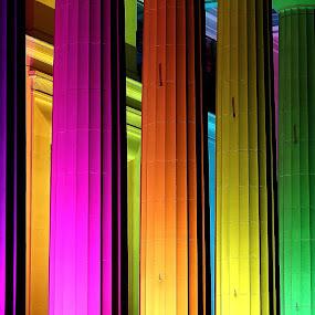 Colour Columns by Greg Van Dugteren - Abstract Patterns