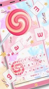 Honeyed Lollipop Keyboard Theme - náhled