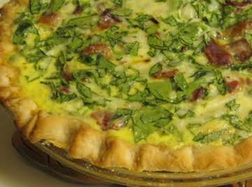 Kitty's Spinach Quiche