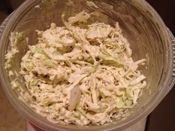 Lightened up coleslaw