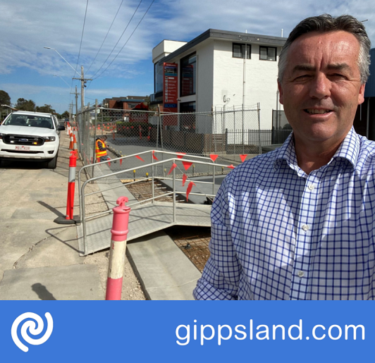 Federal Member for Gippsland Darren Chester says the transformation of The Esplanade in Lakes Entrance will save lives, improve liveability, boost the visitor economy and create jobs