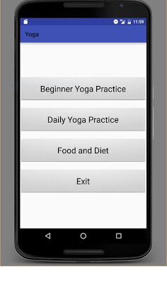Yoga sessions - screenshot
