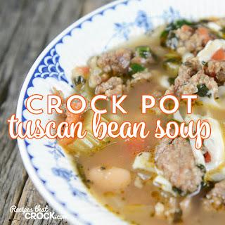 Crock Pot Tuscan Bean Soup
