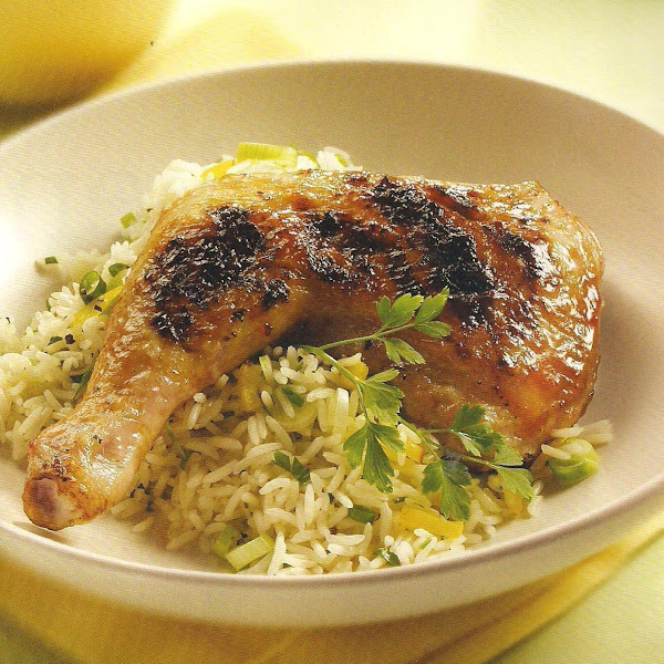 Cranberry Grilled Chicken Quarters Recipe