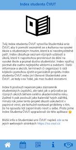 Index studenta ČVUT - náhled