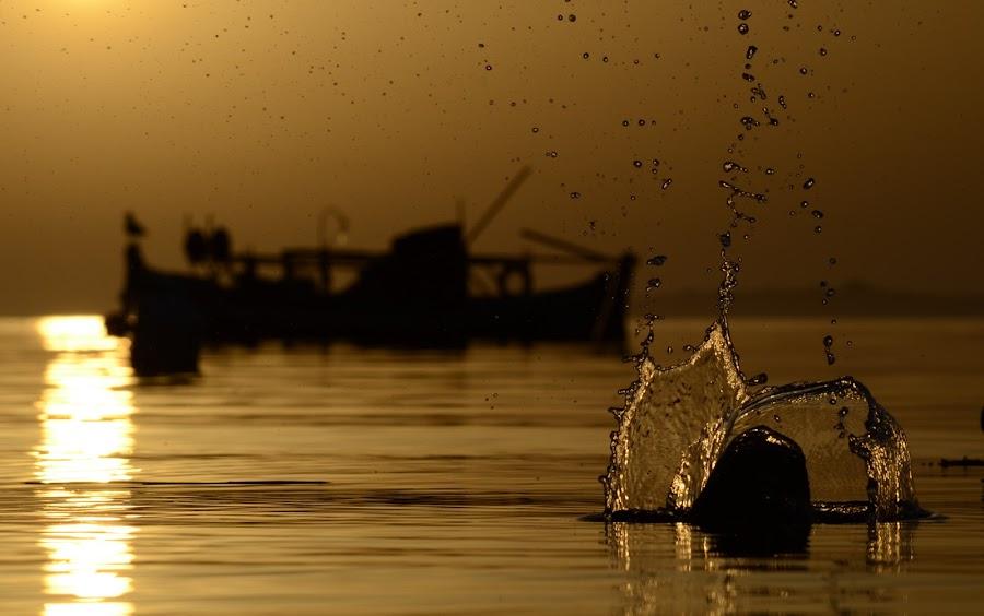 toroni sunset 2 by Georgos Tsamakdas - Landscapes Beaches