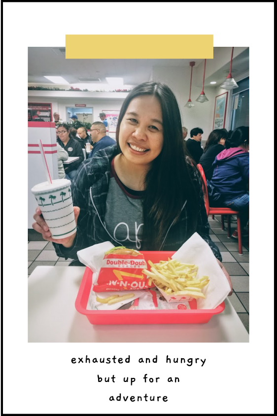 ate a burger in LA at In-N-Out