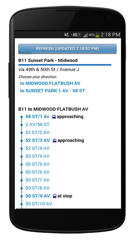 New York Bus Tracker™ App- screenshot
