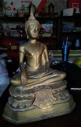 พระบูชา ปางมารวิชัย หน้าตัก 9 นิ้ว  องค์ใหญ่  สวยเดิม
