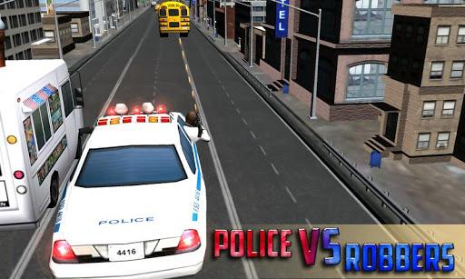 犯罪市警察车追逐 3D