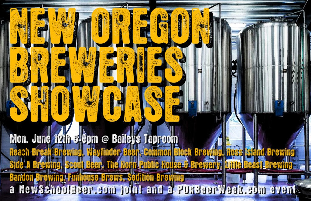 The New Oregon Breweries Showcase features eleven of our state's best new breweries (all breweries will have opened less than a year from the date of the event) and each brewery will have the brewer and/or owner present and two of their beers on tap. No cover charge, beers individually priced.