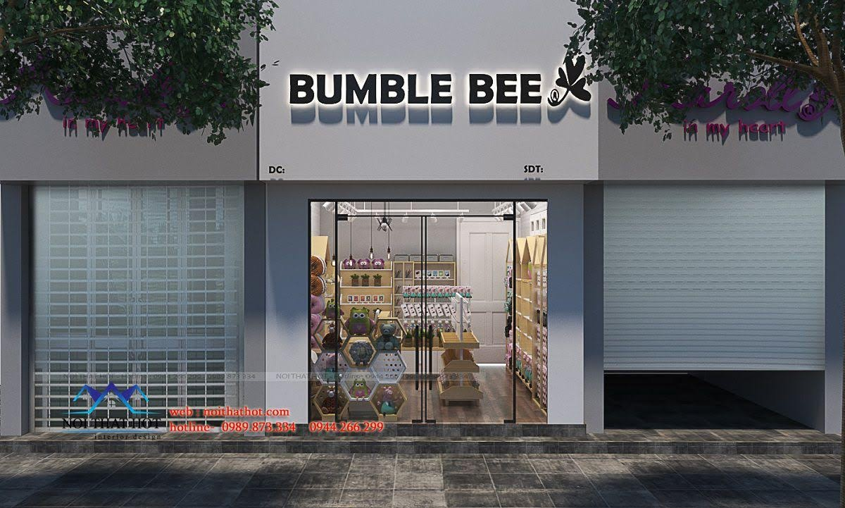 thiế kế shop quà ặng bumble bee 1