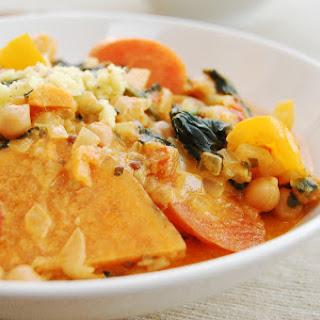 Orange Chickpea Curry with Cinnamon Rice