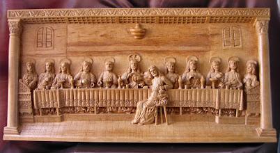 Photo: ''Sagrada Cena'' . Tamaño: 66 x 132 cm. || Talla en madera. Woodcarving.   Puedes conocer más de este artista en el blog: http://tallaenmadera-woodcarving-esculturas.blogspot.com/