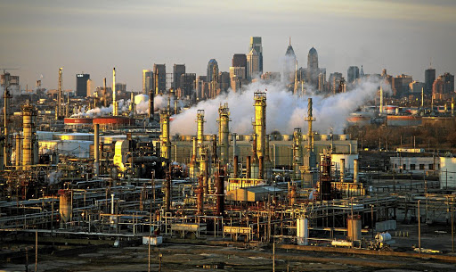 The Philadelphia Energy Solutions oil refinery. Picture: REUTERS